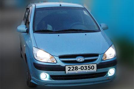 Установка ПТФ на Hyundai Santa-Fe Classic в штатные места.  Запись на ТО, ремонт и установку дополнительного...